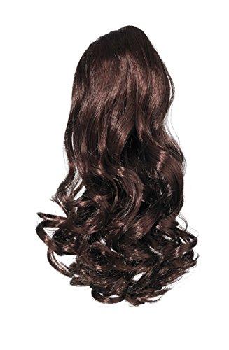 Love Hair Extensions Kunsthaar-Pferdeschwanz Gushy Bird mit Krokodilklemme 40,5cm, 2 Dark Brown (Haar-extensions-36)