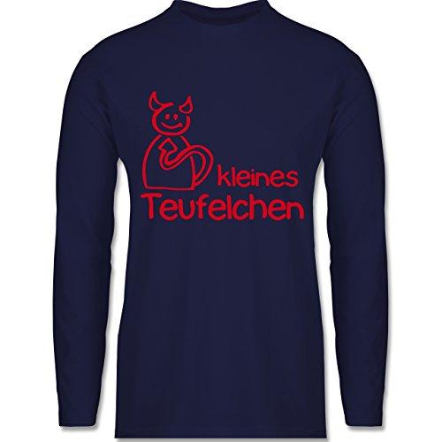 Sprüche - Kleines Teufelchen - Longsleeve / langärmeliges T-Shirt für Herren Navy Blau