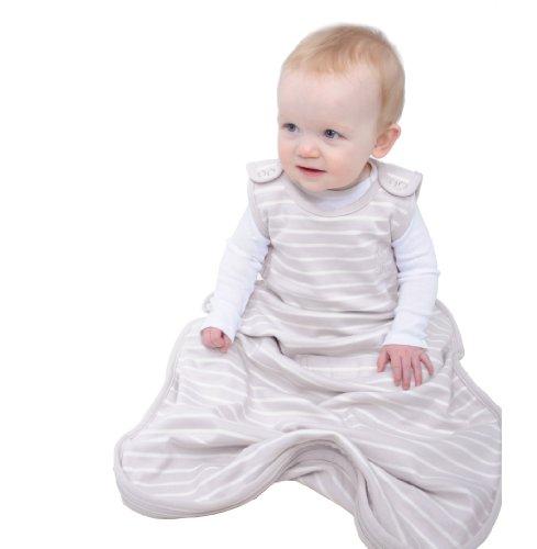 Schlaf-sack Kühl (Woolino 4-Jahreszeiten-Baby-Schlafsack - Merino-Wolle 2 Monate - 2 Jahre Traum (lila grau))