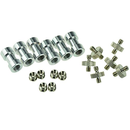 myarmor-6-x-1-4-3-8-socket-adapter-set-for-tripod-screw-mount-convert-flash-light-stand-camera-spigo