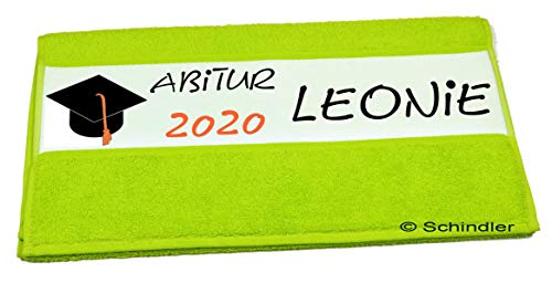 """bedruckte Frottiere Handtücher oder Bade/Duschtücher - Abigeschenke - Motiv 2""""Abi 2020"""" mit Wunschnamen in 13 Farben zur Auswahl und 2 Größen"""