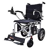 Folding Electric Light Sedia a rotelle con Funzione GPS Automatico Anziani disabili Scooter Transit Viaggi sedie a rotelle, Batteria al Litio 6Ah, Durata Batteria 8-12Km,Nero