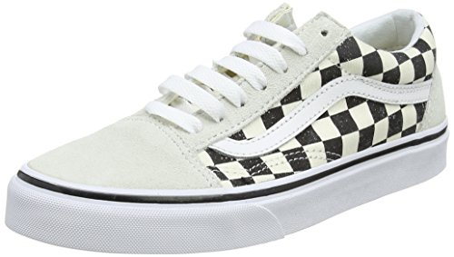 Vans Old Skool, Zapatillas de Entrenamiento Unisex Adulto, Hueso (Checkerboard), 42 EU