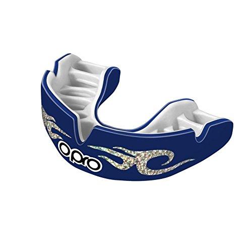 Opro Power Fit blau Urban Mundschutz–Erwachsene (Custom Fit) (Rugby-ball Benutzerdefinierte)