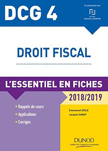 DCG 4 - Droit fiscal - 2018/2019 : L'essentiel en fiches (DC4 t. 1)