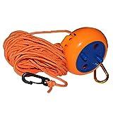 Corde à linge rétractable pour voyage en extérieur Orange 8 m