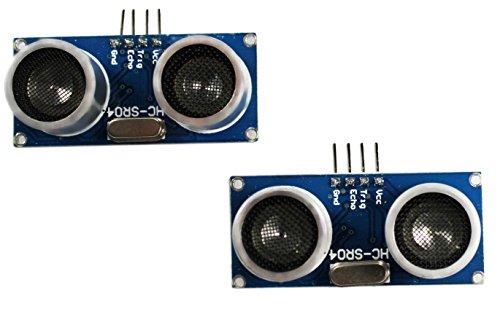 com-four® HC-SR04 Ultraschall Modul Entfernungsmesser Sensor für Raspberry Pi und Arduino (2 Stück)