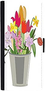 Snoogg Abstract Spring Illustration With Lots Of Flowersdesigner Protective F...