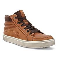ECCO Men's Kyle High Top Fashion Sneaker, Amber, 42 EU/8-8.5 M US