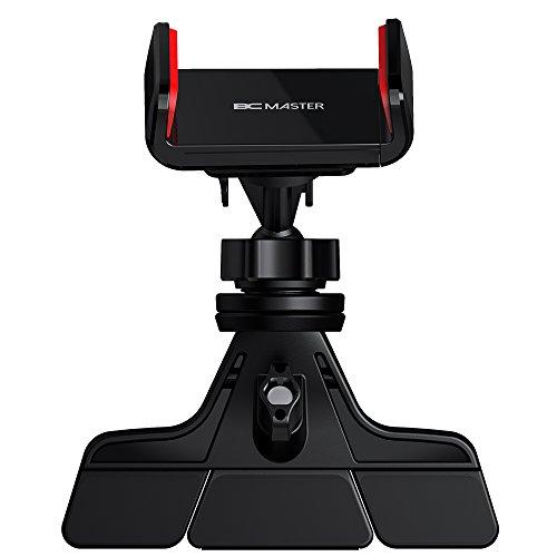 BC Master Rotación de 360° Soporte Móvil para Coche Ranura CD, Car Mount Universal para iPhone 7 7 plus SE 5s 6 6s Samsung S4 S5 S6 S7 edge LG Nexus y más (Negro)