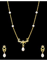 Valentine Gift: Voylla Baroque Pearl Elegant Long Necklace Set For Women, Girlfriend, Wife & Her