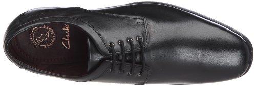 Clarks - Hardies Dream, Scarpe Uomo Nero (Black Leather)