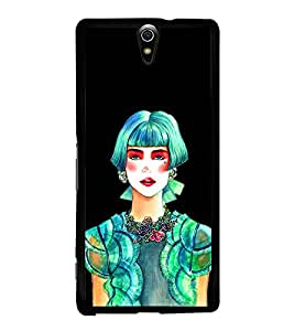 Beautiful Girl 2D Hard Polycarbonate Designer Back Case Cover for Sony Xperia C5 Ultra Dual :: Sony Xperia C5 E5533 E5563
