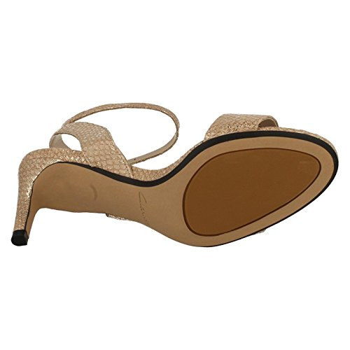 Clarks Amali Jewel Women's Stilettos in Champagne or Black Leather Champagne -