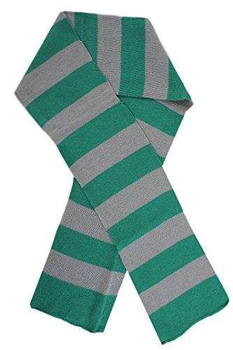 I love Fancy Dress lt0202165cm lang grün und grau gestreift Schal Perfekte Kostüm Zubehör für Assistenten Fancy Kleid (One Size) (Schal Grün Gestreiften)