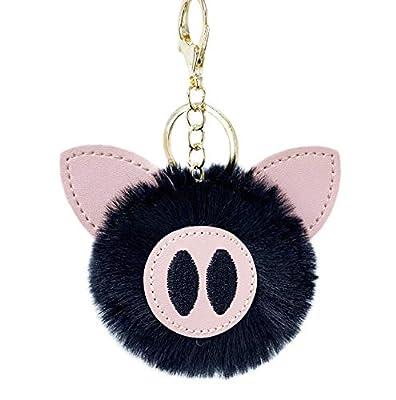 WYBL Juguetes De Cerdo para Niñas Niños Cumpleaños Regalo Colorido Suave Peluche Animal Mochila Cerdo Llavero Colgante Muñecas 12 Cm Negro por WYBL