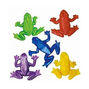 Gifts 4 All Occasions Limited SHATCHI-131 - Juego de 12 ranas elásticas para fiesta de cumpleaños, multicolor