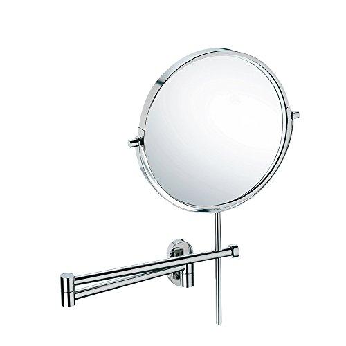 Kela 22679, Wand-Kosmetik-Spiegel, Zum Kleben oder Bohren, Ausziehbar, 1-/3-fach Vergrößerung, Lucido -