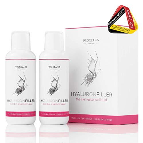 Hyaluron zum Trinken. Prämierter Anti-Aging Beauty Drink für schöne Haut, 50 Tage Anti-Falten Serum. Hyaluronsäure hochdosiert, Vegan