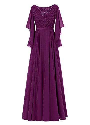 Dresstells, Robe de soirée Robe de cérémonie Robe de mère de la mariée longueur ras du sol Raisin
