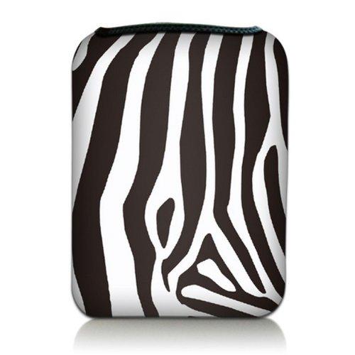 Luxburg® Design Tasche Hülle Sleeve Etui für eBook Reader und Tablet PC bis 7 Zoll, Motiv: Zebra