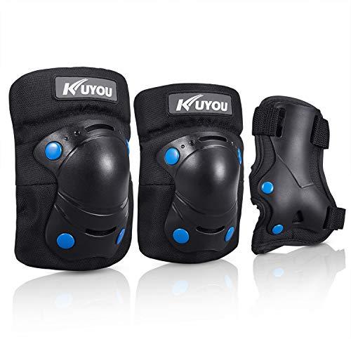 et 6 in 1 Kit Schutzausrüstung Knie Ellbogenschützer (Schwarz) ()