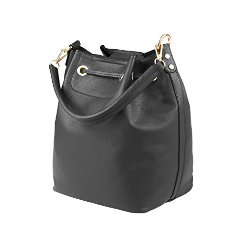 OBC Only-Beautiful-Couture, Borsa a mano donna beige talpa ca.: 40x29x18 cm (BxHxT) grigio scuro