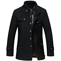 Winter Outerwear Pea Coats Slim Fit