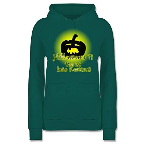 Shirtracer Halloween - Kein Halloweenkostüm - M - Türkis - JH001F - Damen Hoodie
