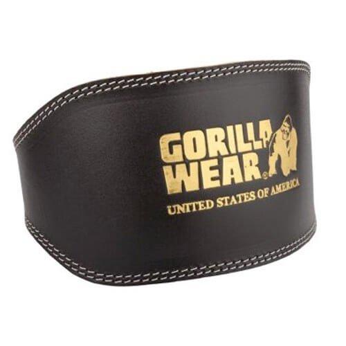 Gorilla Wear Voll-Leder gepolsterte Gewichthebergürtel (S/M)