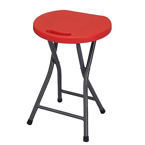 Wooden stool - home sillas Plegables Banco Redondo de plástico Taburete portátil Silla Plegable Adulto doméstico Taburete de Bar Silla de Comedor al Aire Libre Simple (Color : #5)