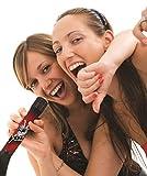 iParty Lexibook The Voice Karaoké Micro Bluetooth, Mikrofon zum Singen mit eingebautem Lichtlautsprecher und Echofunktion, wiederaufladbare Batterie, Schwarz/Rot, MIC200TV