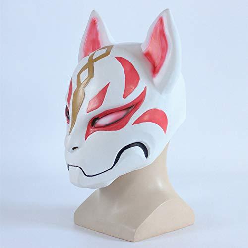 Forum Kinder Neuheiten Kostüm - Liuanxiongweishangmao Plastik Fox Drift Maske Helm Halloween Latex Kostüme für Erwachsene Kinder Spiel.