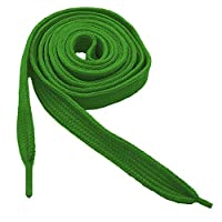tumundo 1 Pair of Flat Strong Shoelaces Shoestrings Bootlace Lace for Sneaker Boots Shoes 110 cm/43 inches green