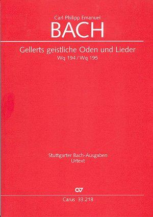 C P E  BACH: GEISTLICHE ODEN UND LIEDER GELLERT   VOCAL   BOOK