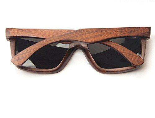 jinyue 100% Holz Sonnenbrille aus für Damen und Herren von UV400 Schutz Damen, Herren, Unisex Holz Sonnenbrille Sonnenbrille UV