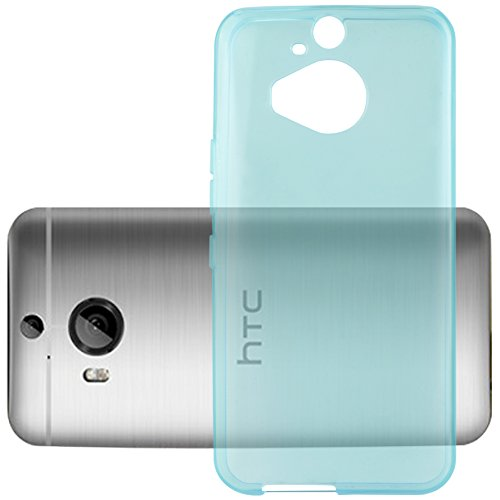 Preisvergleich Produktbild Cadorabo Hülle für HTC ONE M9 Plus (3.Gen.) - Hülle in TRANSPARENT BLAU – Handyhülle aus TPU Silikon im Ultra Slim 'AIR' Design - Silikonhülle Schutzhülle Soft Back Cover Case Bumper