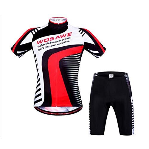 AQWWHY Herren Radtrikot, Kurzarm-Rad-Oberteile, Mountainbike-Shirt, reflektierende Fahrradbekleidung, schnell trocken