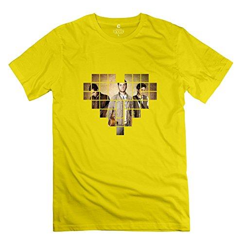 KST Herren T-Shirt Gr. Small, Gelb - Gelb (Fall Out Boy Simpsons)