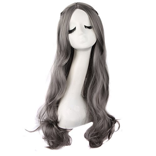 MapofBeauty-70cm28-Pouce-Longue-Wavy-Cheveux-Cosplay-Perruques-Granny-Gris