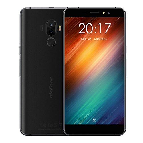 """Telephone Portable Debloqué, Ulefone S8 3G Smartphone Pas Cher avec écran HD de 5,3 """", MT6580 Quad Core 1.3Ghz, Android 7.0, Double SIM, 1 Go de RAM + ROM de 8 Go, 5MP + 13MP Double Caméra , 3000mAh - Noir"""