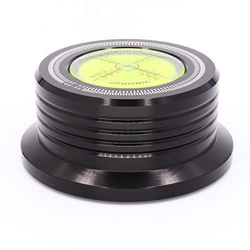 Viborg 50HZ 528B Black 3 In 1 Plattenklemme LP Disc Stabilizer Drehscheibe für Vibrationen ausgeglichen Schallplattenauflagegewicht