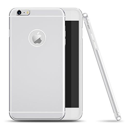 Cover iPhone 6s Plus, Roybens Metallo Silicone 2 in 1 Ultra Sottile Antiurto Custodie Cover per Apple iPhone 6 / 6s Plus, Argento [Silver], Original iPhone-sensazione in Mano