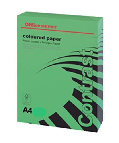 office-depot-a4-intense-green-coloured-card-160gsm-25-sheets