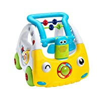 Nuby Interactive Baby Walker with Lights and Sounds, 3 Stage Push Along Walker, 6 Months Plus, Perfect for All Stages of Play, from Sitting to Standing to Walking
