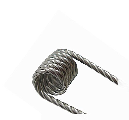 10x Coil vorgewickelte Fertigcoils Widerstand Draht KA1 Ni80 316L Selbstwickler Ohm Draht Wicklung Subohm Wickeldraht (10x Quad Coil, KA1 0,36 Ohm)