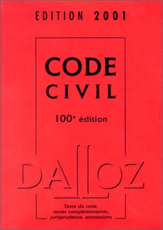 Code civil 2001 avec un CD-Rom