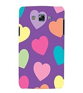 printtech Love Heart Cute Pattern Back Case Cover for Samsung Galaxy E5 / Samsung Galaxy E5 E500F