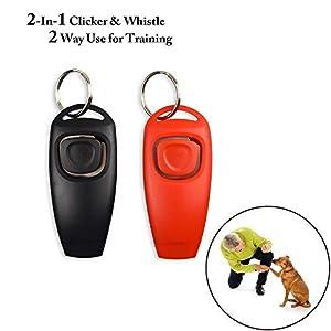 ZUMURCH® Sifflet pour Chien, clicker, [Version Mise à Niveau] [2 en 1] Clicker de Dressage pour Animal Domestique, Chien, Chat, etc.
