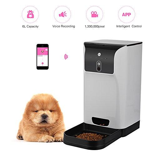 App distributore automatico per animali domestici per gatti/alimenti per cani 6l storage con fotocamera registratore vocale connessione wi-fi compatibile per ios android